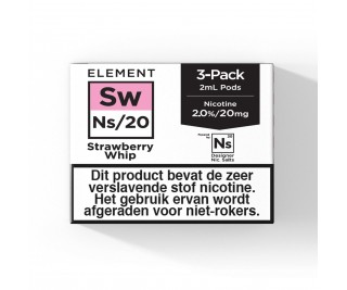 Element – Strawberry Whip – NS20 POD 3 x 2ML 20MG