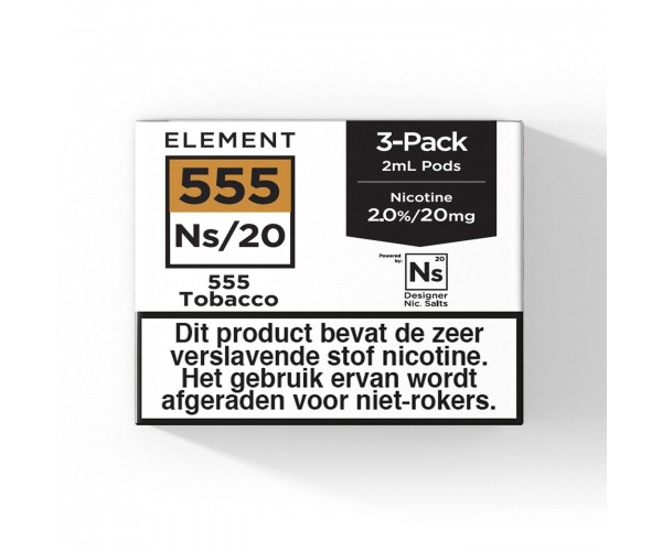 Element – 555 Tobacco – NS20 POD 3 x 2ML 20MG