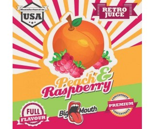 BIG MOUTH RETRO JUICE: PEACH and RASPBERRY