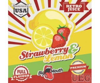 BIG MOUTH RETRO JUICE: STRAWBERRY and LEMON
