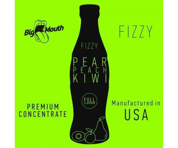 BIG MOUTH FIZZY: PEAR | PEACH | KIWI