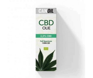 CanOil CBD Olie 2.5% (750MG) - 30ML Full Spectrum CBD