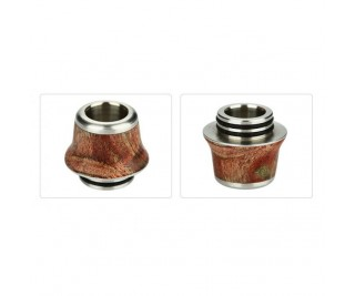Arctic Dolphin Stabilized Wood Drip Tip 810 A9