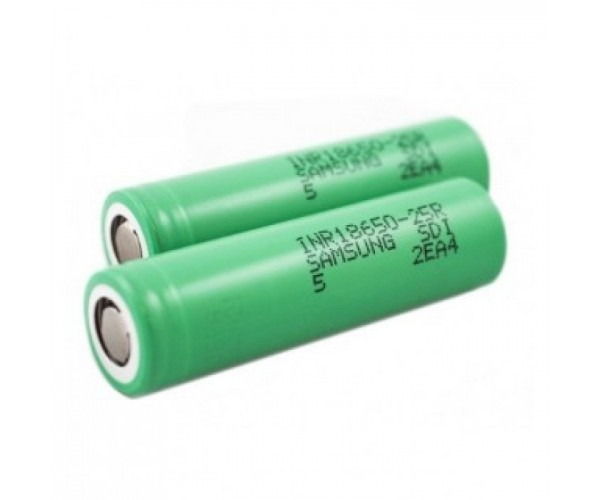 Samsung 25R 18650 Batterij 2500mAh