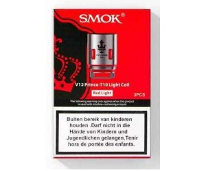 SMOK V12 Prince - T10 Red Light Coil (3 St.)