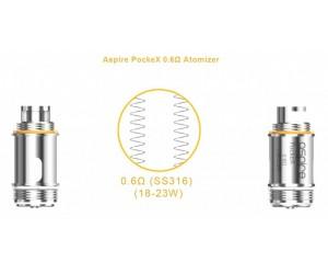 Aspire PockeX U-Tech coils (5 stuks)